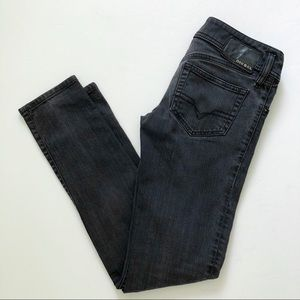 Diesel Matic Black Gray Women's Skinny Jeans 27